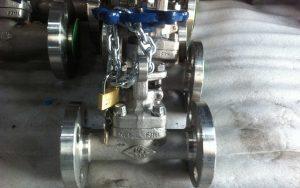 F316L Edelstahl Absperrschieber mit Locking Device in Flanschausführung