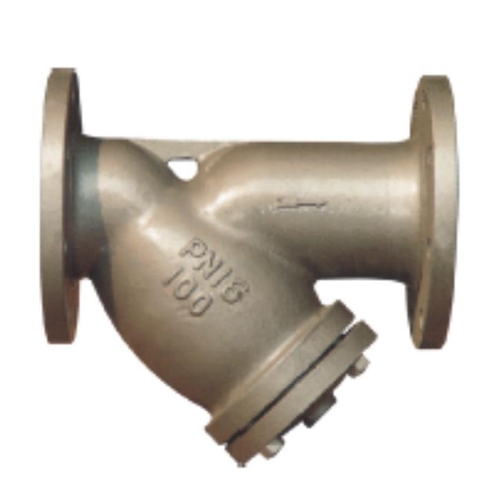 Y-Type Strainer in Stahlguss mit Flanschende RF EN 1092-1