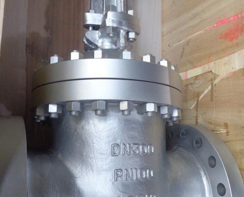DN 300 PN 100 Absperrschieber in Stahlguss