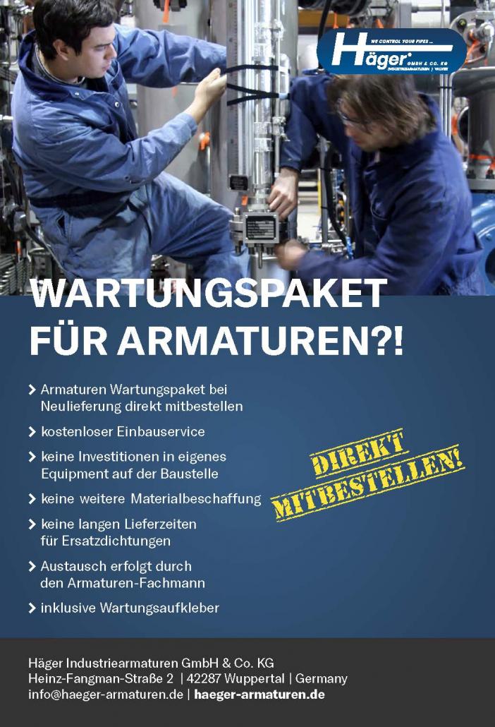 Wartungspaket für Industriearmaturen